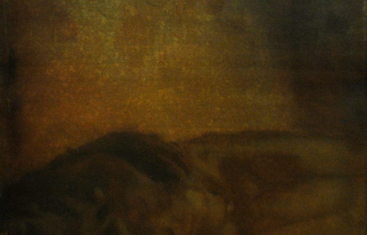 Deposizione, 2008. Olio su carta, 100x70