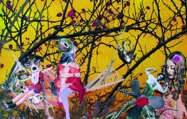 Nella mia selva oscura, 64X64 cm, mixed media, 2011