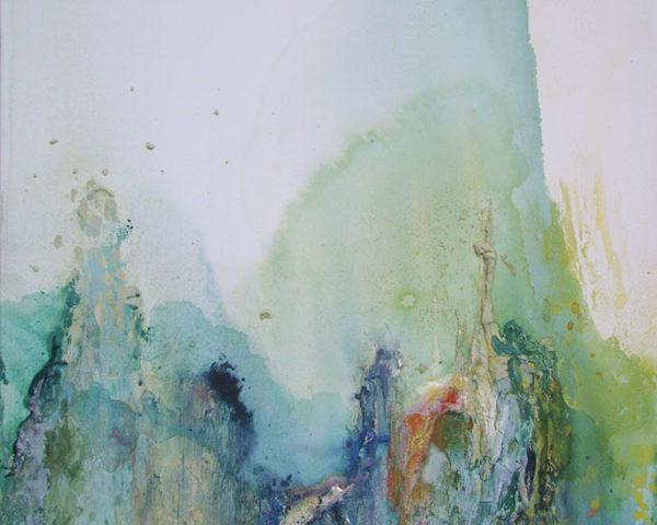 Senza titolo, 2011, cm 100x70, tecnica mista su tela