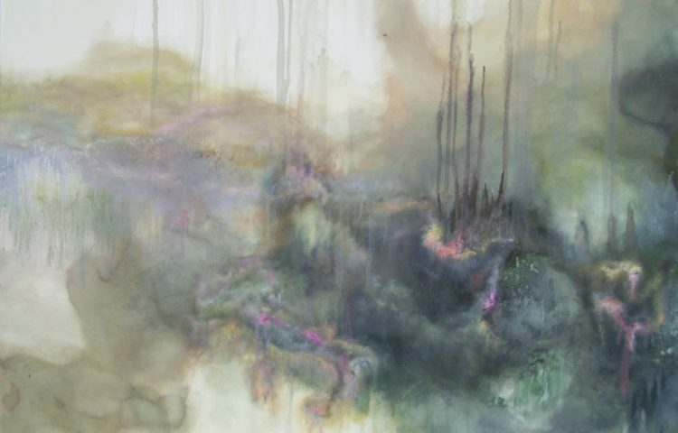Visioni, 2011, cm 100x100, acrilico e olio su tela